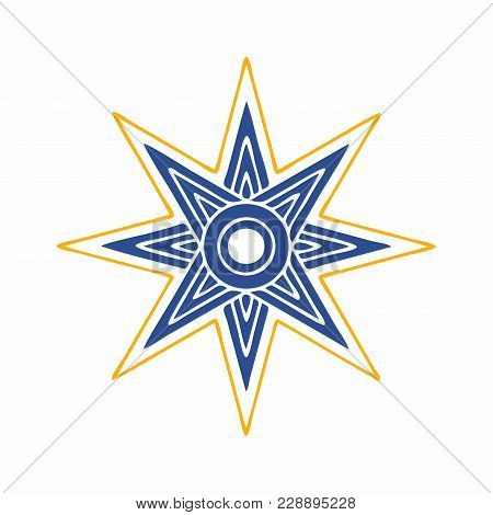 Vector Illustration: The Star Of Ishtar, Symbol Of Inanna, Also Called Star Of Venus. Eight Point St