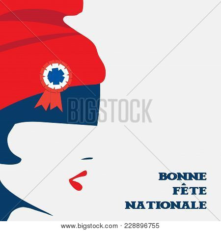 Vector Illustration For French National Day Or The Fourteenth Of July, Also Called Bastille Day. The