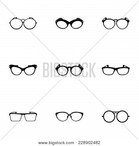 Safety Glasses Icons Set. Simple Set Of 9 Safety Glasses Vector Icons For Web Isolated On White Back