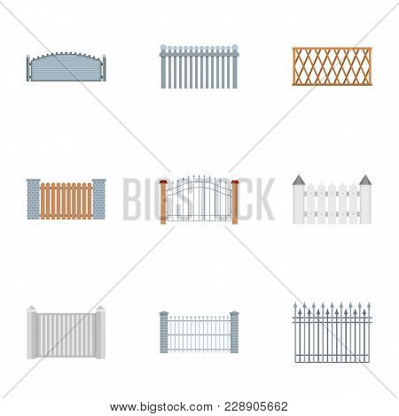 Barrier Icons Set. Flat Set Of 9 Barrier Vector Icons For Web Isolated On White Background