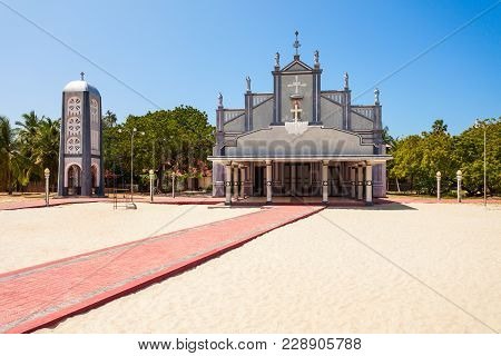 St. Lawrence Church In Talaimannar Town. Talaimannar Is Located On The Northwestern Coast Of Mannar