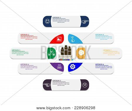 Business-chronology Infographics With Different Symbols In Numbers And Text