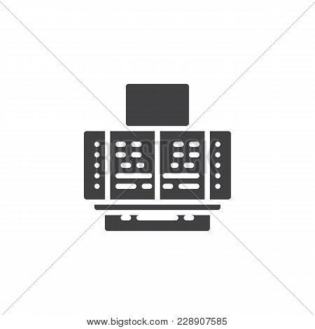 Control System Panel Vector Icon. Filled Flat Sign For Mobile Concept And Web Design. Technology Con