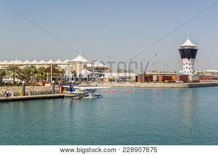 Abu Dhabi,uae- Nov 14th 2017: Yas Marina View In Yas Island Abu-dhabi