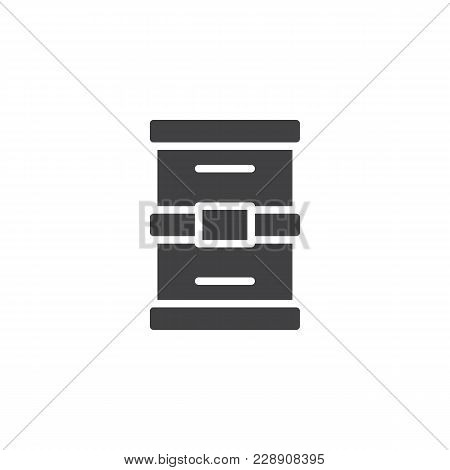 Oil Barrel Vector Icon. Filled Flat Sign For Mobile Concept And Web Design. Simple Solid Icon. Symbo