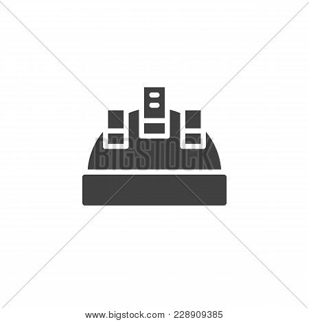 Protective Helmet Vector Icon. Filled Flat Sign For Mobile Concept And Web Design. Hard Hat Workwear