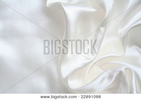 Smooth elegant white silk can use as wedding background poster