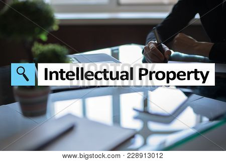 Intellectual Property Rights. Patent. Business, Internet And Technology Concept