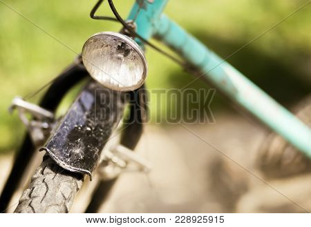 Biking Concept - Close-up Of An Old Retro Bicycle