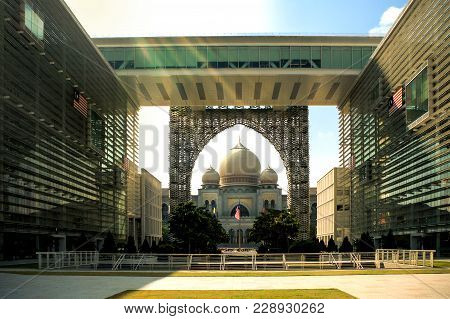 Government Building Overlooking The Palace Of Justice In The Planned City Of Putrajaya, South Of Kua