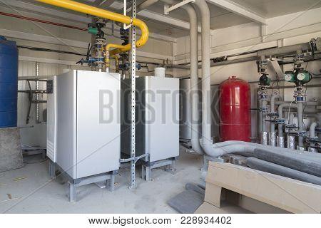 Gas Boiler Room. General Plan Of The Boiler-house System.