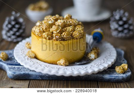 Cheesecake On Agar Agar With Dried Apricots And Lemon