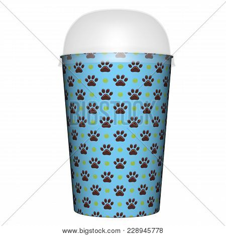 Plastic Or Paper Glass And Cap Render Isolated On White Background (3d Illustration)