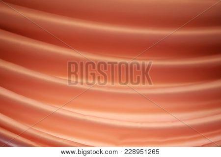 Satin Silk Orange Texture Drapery With Folds