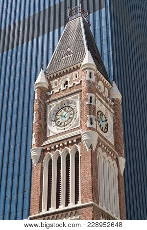 Old Townhall Of Perth In Early Morning Light, Western Australia