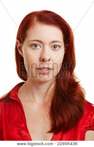 Portrait Of A Redhaired Woman