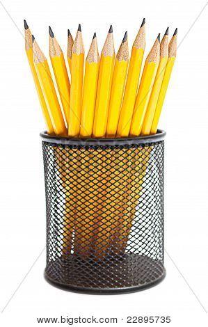 Pencils In Pencil Holders