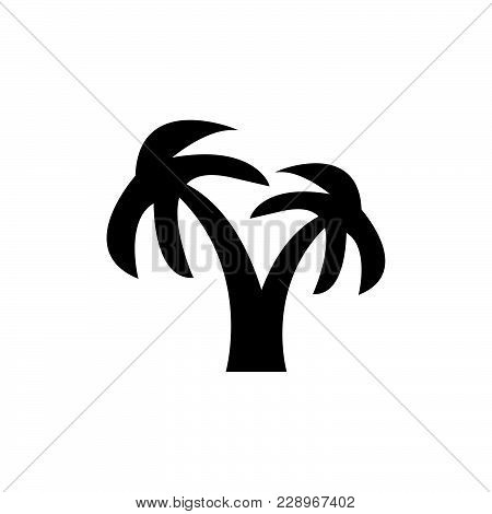 Coconut Tree Icon Isolated On White Background. Coconut Tree Icon Modern Symbol For Graphic And Web