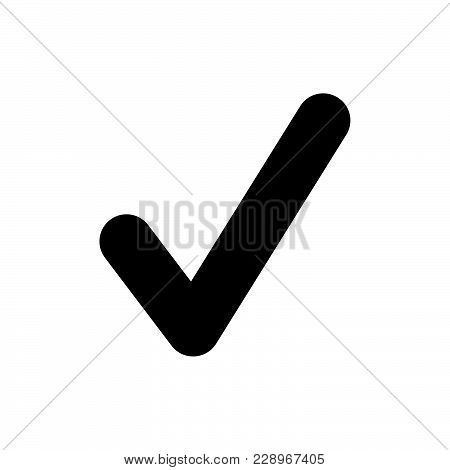 Check Mark Icon Isolated On White Background. Check Mark Icon Modern Symbol For Graphic And Web Desi