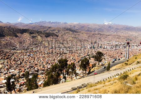 La Paz View From El Alto,bolivia. Bolivian Capital