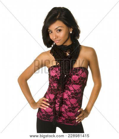 Beautiful young latina woman