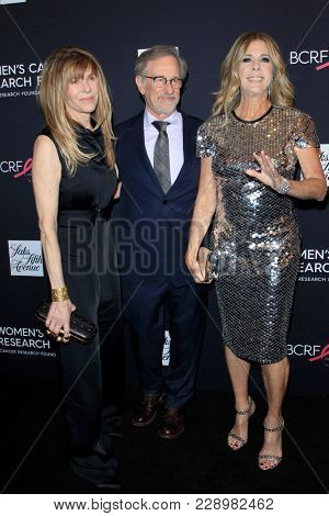 LOS ANGELES - FEB 27:  Kate Capshaw, Steven Spielberg, Rita Wilson at the An Unforgettable Evening at Beverly Wilshire Hotel on February 27, 2018 in Beverly Hills, CA