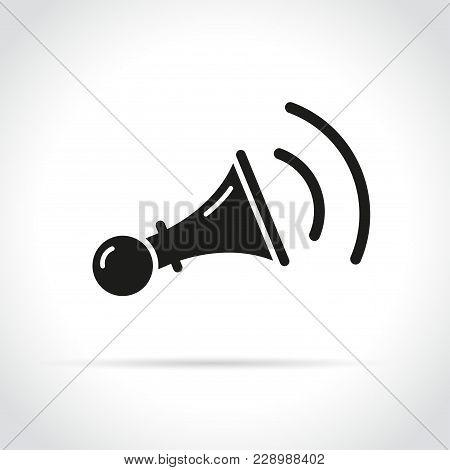 Illustration Of Horn Icon On White Background