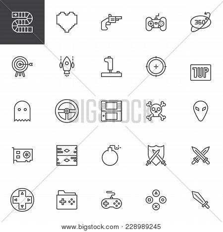 Video Game Elements Vector Photo Free Trial Bigstock - Video game outline