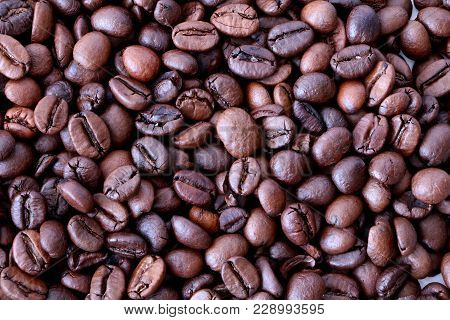 Coffee Background, Coffee Beans Texture, Brown Coffee Caffeine Beans Background, Texture, Close-up