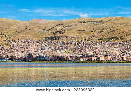 Puno Panoramic View From Titicaca Lake, Peru