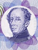 Guillaume Henri Dufour portrait from Swiss money poster