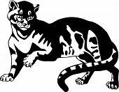 Black Panther. Vector illustration. Tattoo. Wild animal. poster