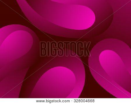 Red Blood Cells. Blood Clot Under The Microscope, Erythrocyte, Hemoglobin Molecules. Vector Illustra