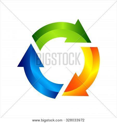 Recycle Symbol Graphic Design. Illustration Of Recycling. Vector Illustration Arrow Recycling Symbol