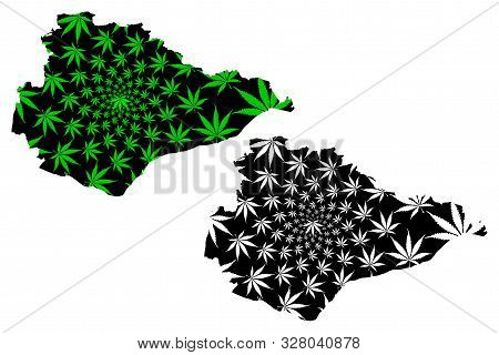 East Sussex (united Kingdom, England, Non-metropolitan County, Shire County) Map Is Designed Cannabi