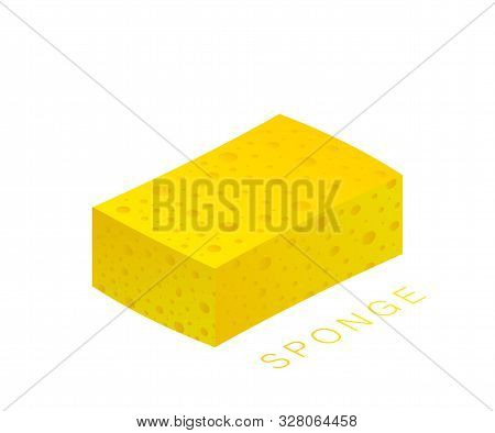 Scouring Pads Spong For Housework Cleaning And Scouring Pad Domestic Spong Work Tools. Vector Stock
