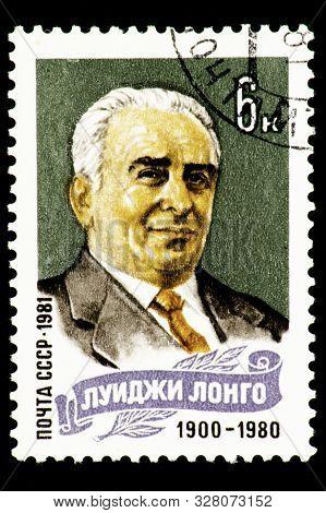 07.24.2019 Divnoe Stavropol Territory Russia Postage Stamp Of The Ussr Luigi Longo 1900-1980 Portrai