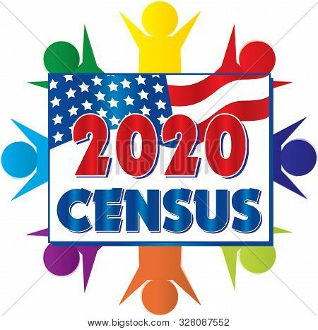 2020 Census United States Of America Banner Art Diversity