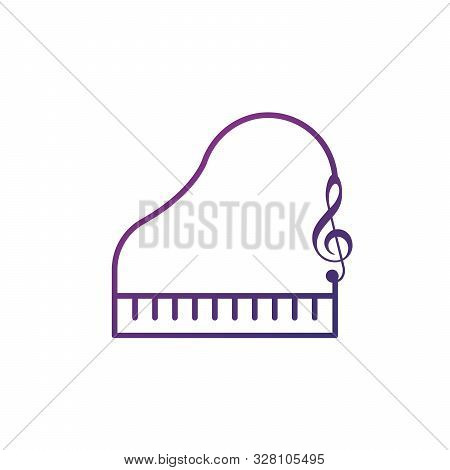 Piano Melody Icon Vector. Piano Symbol. Linear Style Sign For Mobile Concept And Web Design. Piano S