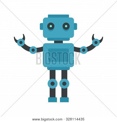 Humanoid Machine Icon. Flat Illustration Of Humanoid Machine Vector Icon For Web Design