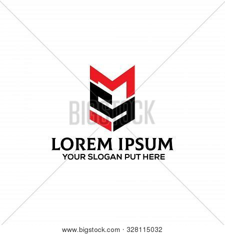 Creative & Modern Sme Or Mse  Letter  Logo Design Template For Company, Business Or Industry Purpose