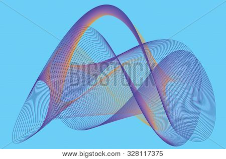 Abstract Linear Colorful Background. High Saturated Gradients. Abstract Mobius Vessel