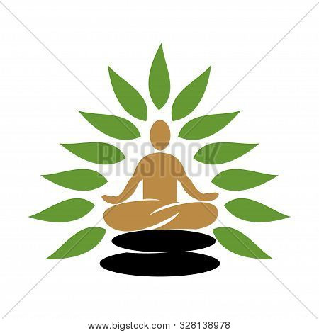 Nature Spa Logo Design Icon Vector Template Isolated