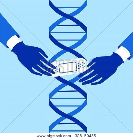 Genetic Engineering. Crispr Cas9 Gene Editing Method