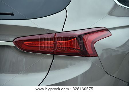 The Tail Lights On A Luxury Suv
