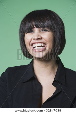 Kuwaiti woman laughing