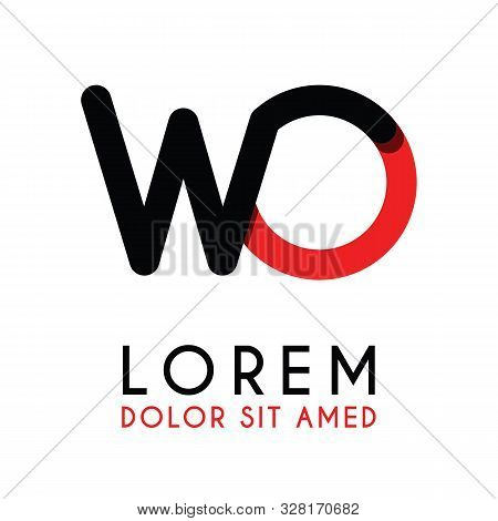 Initial Letter Wo With Red Black And Has Rounded Corners