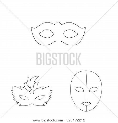 Vector Illustration Of Masquerade And Mystery Icon. Collection Of Masquerade And Festival Stock Symb