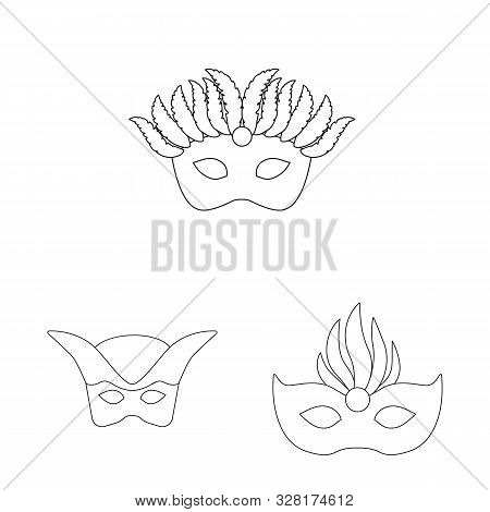 Isolated Object Of Masquerade And Mystery Icon. Collection Of Masquerade And Festival Stock Symbol F