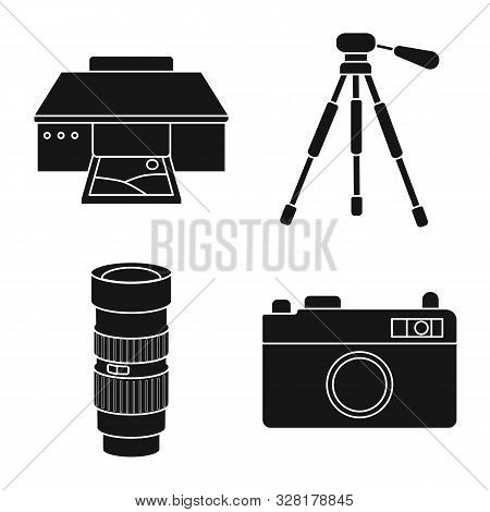 Vector Design Of Business And Hobbies Sign. Collection Of Business And Photo Stock Vector Illustrati